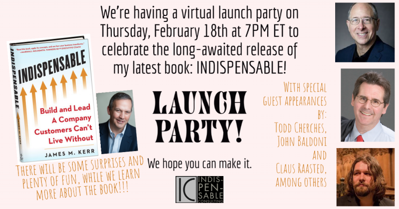 Virtual Book Launch Party Announcement